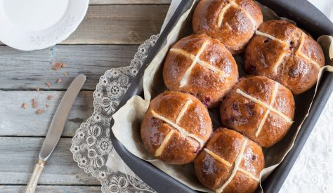 A decadent twist on the classic hot cross bun recipe made with juicy cranberries and dark chocolate. Serve warm and smothered with Kerrygold for the ultimate Easter treat.