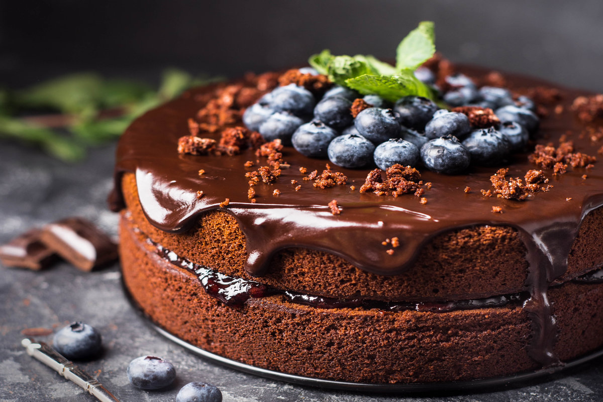 Chocolate And Blueberry Cake Recipe Kerrygold Ireland
