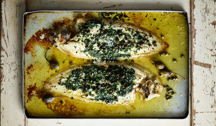 We've used Dover soles for this recipe, but any white fish could work beautifully instead.