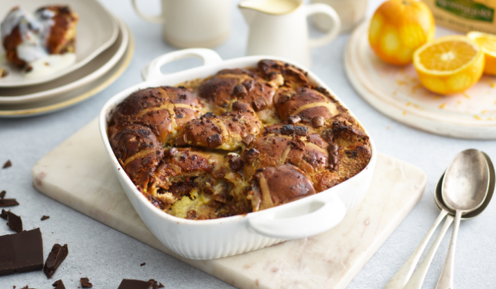 This recipe is a delicious Easter dessert and a brilliant way of using up any leftover hot cross buns.
