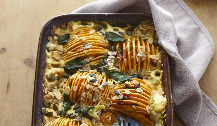Try this delicious vegetarian crumble for dinner...