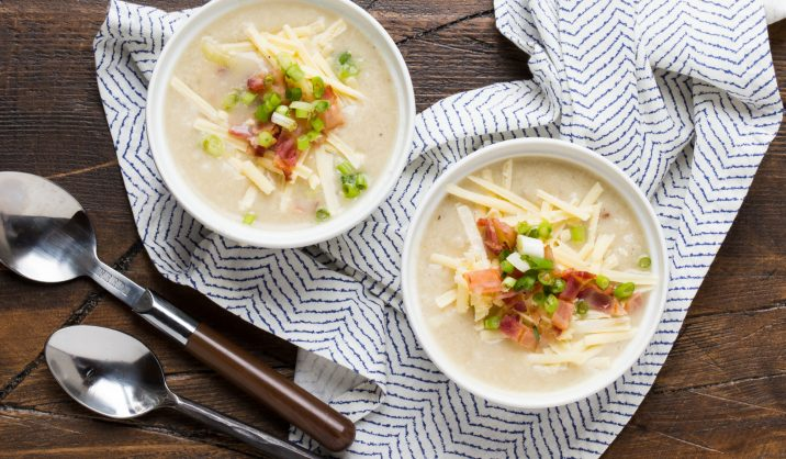 Winter is all about comfort food and nothing quite warms the soul on a chilly day than this deliciously cheesy potato soup.
